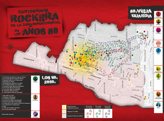 Cartografía rockera