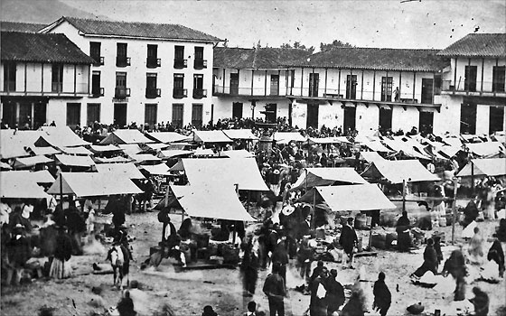 Mercado, Plaza Mayor. Pastor Restrepo. 1880